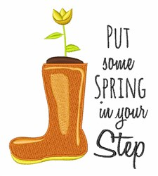 Spring In Step embroidery design