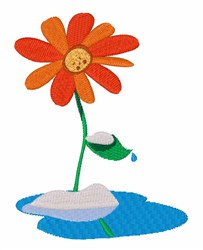 Snowy Flower embroidery design