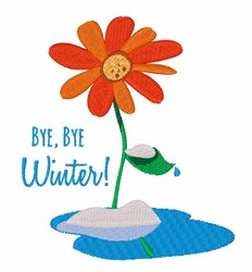 Bye Winter embroidery design
