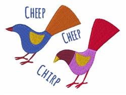 Cheep Chirp embroidery design