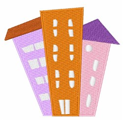 Apartment Buildings embroidery design