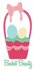 Basket Beauty embroidery design