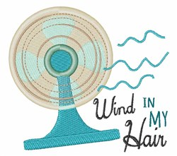 Wind In My Hair embroidery design