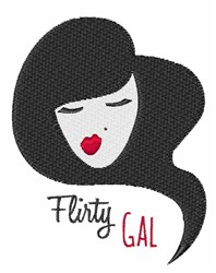 Flirty Gal embroidery design