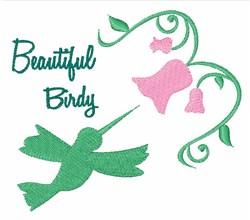 Beautiful Birdy embroidery design