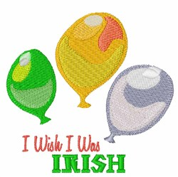 Wish I Was Irish embroidery design