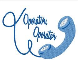 Operator Operator embroidery design