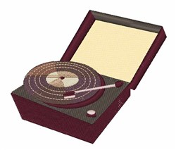 Turntable embroidery design