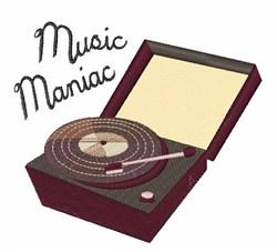 Music Maniac embroidery design