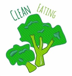 Clean Eating embroidery design