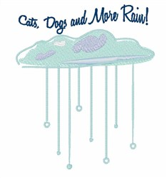 Cats Dogs Rain embroidery design