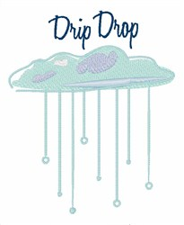 Drip Drop embroidery design
