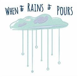 Rains Pours embroidery design