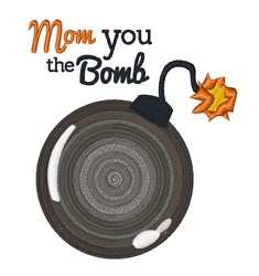 Mom Bomb embroidery design