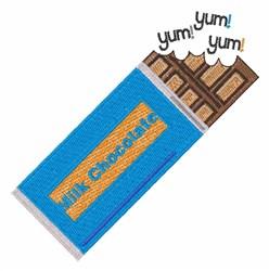 Yum Yum Chocolate embroidery design