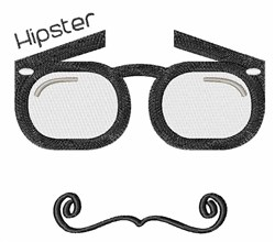 Hipster Glasses embroidery design