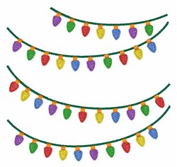 Holiday Lights embroidery design
