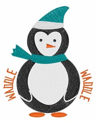 Penguin Waddle embroidery design