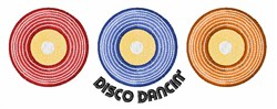 Disco Dancin embroidery design