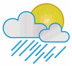 Rain Clouds embroidery design