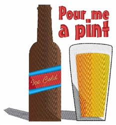 Pour A Pint embroidery design