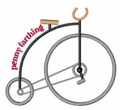 Penny Farthing embroidery design