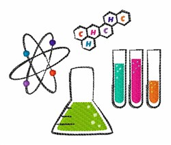 Chemistry Atoms embroidery design