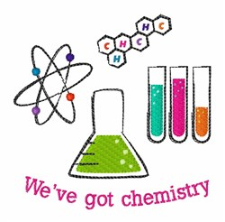 Got Chemistry embroidery design