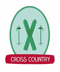 Cross Country embroidery design