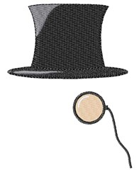 Top Hat Monocle embroidery design