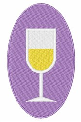 Wine Oval embroidery design