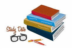 Study Date embroidery design