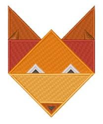 Origami Fox embroidery design