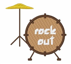 Rock Out embroidery design