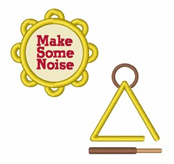 Make Some Noise embroidery design