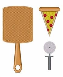 Pizza Utensils embroidery design