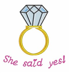 She Said Yes embroidery design