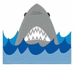 Shark In Water embroidery design