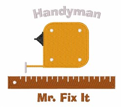 Mr Fix It embroidery design