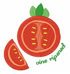Vine Ripened embroidery design