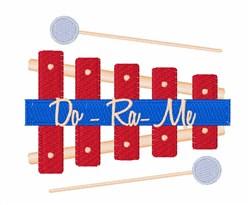 Do Ra Me embroidery design