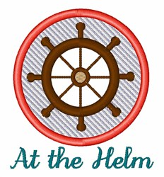 At The Helm embroidery design