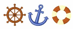Nautical Icons embroidery design