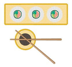 Sushi Soy Sauce embroidery design