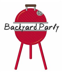 Backyard Party embroidery design