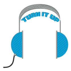 Turn It Up embroidery design