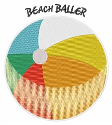 Beach Baller embroidery design