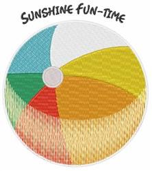 Sunshine Fun Time embroidery design