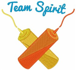 Team Spirit embroidery design