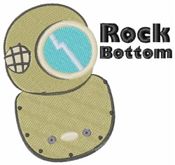 Rock Bottom embroidery design